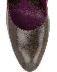 Vivienne Westwood - Gray Satyr Glossed-leather Pumps - Lyst