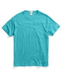 Todd Snyder | Blue Football T-Shirt In Aquamarine for Men | Lyst