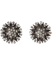 Guess | Metallic Starburst Button Earring | Lyst