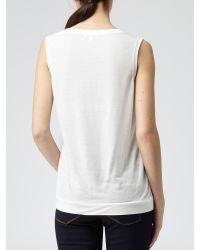 Reiss White Silk Front Kali Top