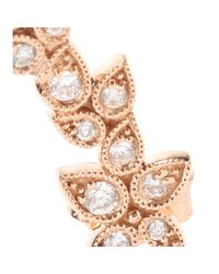 Stone Pink Whisper 18kt Rose Gold Ear Cuff with White Diamonds