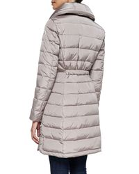 Moncler - Gray Flamme Mid-length Puffer Jacket - Lyst