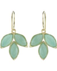 Irene Neuwirth | Green Gemstone Triple Marquise Earrings | Lyst