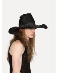 Reinhard Plank - Black Comme Viscose Hat - Lyst