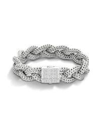 John Hardy | Metallic Medium Braided Bracelet | Lyst