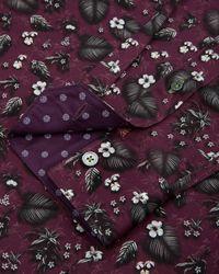 Ted Baker - Purple Noface Floral Print Sport Shirt - Regular Fit for Men - Lyst