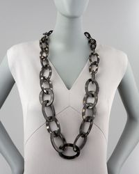 Nest Metallic Spotted Horn Link Necklace