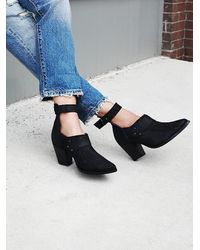 Free People | Blue Avery Heel Boot | Lyst