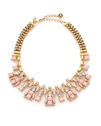 kate spade new york | Metallic Turn Heads Statement Box Chain Necklace | Lyst