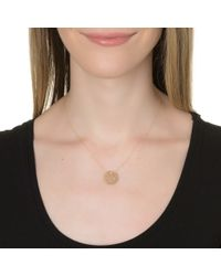 Ginette NY | Mini Lace Monogram Necklace, White Gold | Lyst