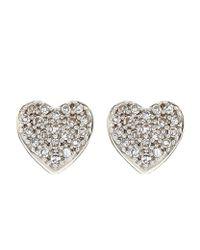Astley Clarke - Metallic Little Heart Stud Earrings - Lyst
