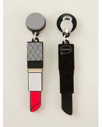 Yazbukey Gray Lipstick Earrings