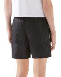 Gucci Black Technical Nylon Swim Shorts for men
