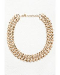 Forever 21 | Metallic Square-link Chain Necklace | Lyst