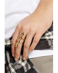 Jennifer Fisher - Metallic X Long Peak Bar Goldplated Ring - Lyst