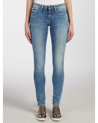 Calvin Klein Blue Mid Rise Skinny Jeans