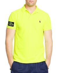 Ralph Lauren | Yellow Polo Us Open Custom-fit Big Pony Neon Slim Fit Polo Shirt for Men | Lyst