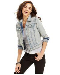DKNY - Blue Long-sleeve Denim Jacket - Lyst