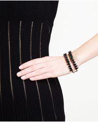 Chanael K - Blue Double-row Corundum Embellished Bracelet - Lyst