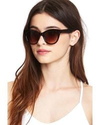 Forever 21 - Black Everyday Cateye Sunglasses - Lyst