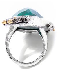 Alexis Bittar - Metallic Chrysocolla Mosaic Cocktail Ring - Lyst