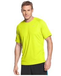 Nike | Yellow Miler Short Sleeve Uv Running T-shirt for Men | Lyst