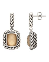 Lord & Taylor | Metallic Sterling Silver And Quartz Doublet Earrings | Lyst