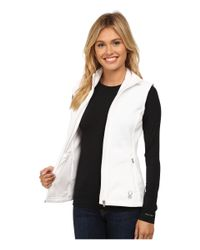 Spyder - White Melody Full Zip Mid Weight Core Sweater Vest - Lyst
