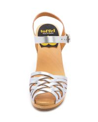 Swedish Hasbeens Metallic Braided Sky High Sandals