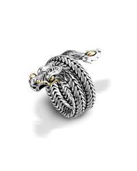 John Hardy - Metallic Dragon Coil Ring - Lyst