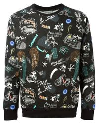 Paul & Joe | Black Paris Print Sweatshirt for Men | Lyst