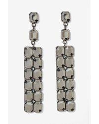 Nasty Gal | Metallic Stone Cold Drop Earrings | Lyst