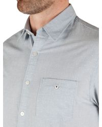 Racing Green - Blue Portrait Short Sleeve Shirt for Men - Lyst