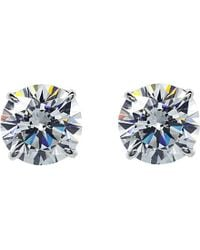 Carat* | Metallic Round 2ct Solitaire Stud Earrings | Lyst