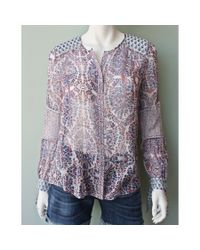 Rebecca Taylor | Purple Long Sleeve Paisley Top | Lyst