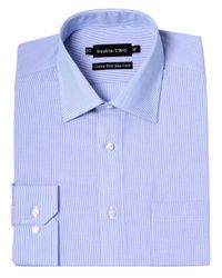 Double Two | Blue Stripe Classic Collar Formal Shirt for Men | Lyst