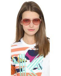 Markus Lupfer | Pink Glitter Aviator Sunglasses - Rose/rose | Lyst