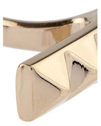 Valentino | Metallic Rockstud Bar Ring | Lyst