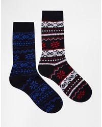 Jack & Jones - Multicolor Holidays Boot Socks In Fairisle for Men - Lyst