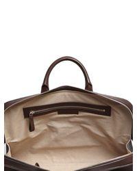 Bonastre Brown Vegetable Tanned Leather Briefcase for men