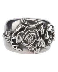 Mawi | Metallic Rose Skull Ring for Men | Lyst