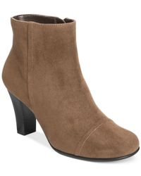 Aerosoles - Brown Scrole Book Booties - Lyst