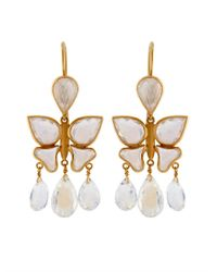 Marie-hélène De Taillac | Moon Stone & Yellow-Gold Earrings | Lyst