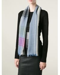 Marc By Marc Jacobs Gray Check Scarf