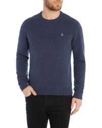 Original Penguin | Blue Hector Lambswool Sweater for Men | Lyst