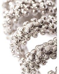 Balenciaga - Metallic Bubble Chain Earrings - Lyst
