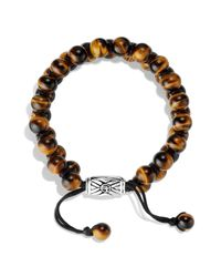 David Yurman Metallic Spiritual Beads Two - Row Bracelet With Tiger's Eye for men