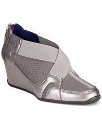 Adrienne Vittadini | Metallic Vilen Wedge Sneakers | Lyst