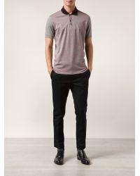 Lanvin Gray Polo Shirt for men