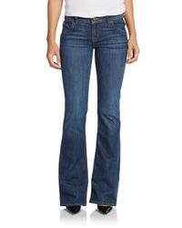 Hudson Jeans - Blue Mid-rise Flared Bootcut Jeans - Lyst